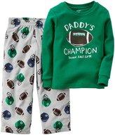 Carter's 2 Piece PJ Set (Toddler/Kid) - Football-3T
