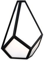 Feiss Diamond 1-Light Wall Sconce in Black with LED Bulb Included