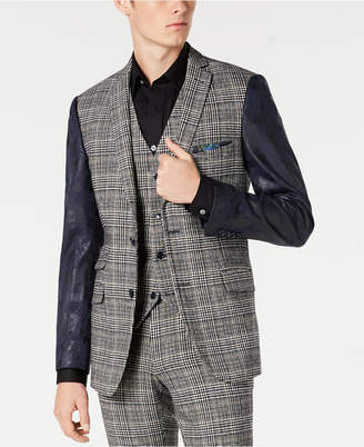 Paisley & Gray Men Slim-Fit Blazer with Vegan Leather Sleeves