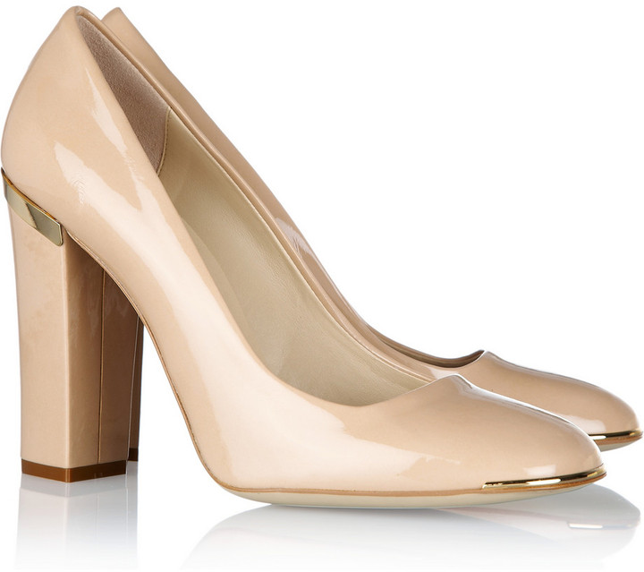 Stella McCartney Faux patent-leather pumps