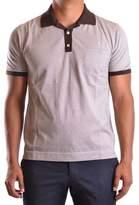 Ballantyne Men's White/brown Cotton Polo Shirt.