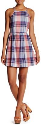 Want & Need Plaid Cutaway Babydoll Dress
