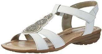 Remonte R3641, Women's Wedge Heels Sandals, White (Weiss/ice/81), (36 EU)
