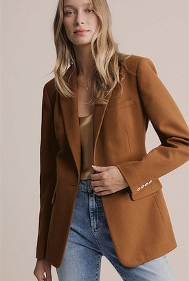 Witchery Single Breasted Twill Blazer
