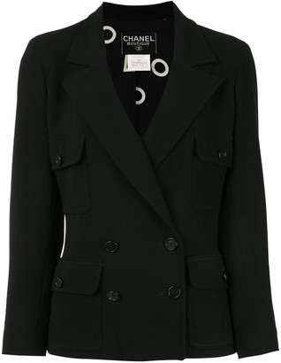 Chanel Pre Owned 1997s Double-Breasted Long Sleeve Jacket