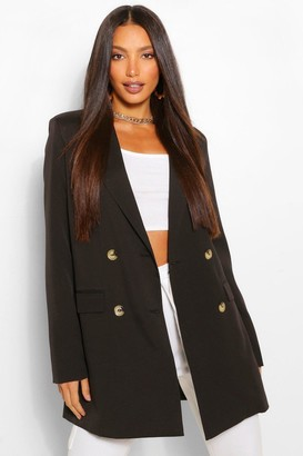 boohoo Tall Double Breasted Longline Oversized Blazer