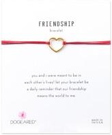 Dogeared 14K Gold Plated Sterling Silver Friendship Medium Open Heart Bracelet