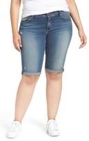 Lucky Brand Plus Size Women's Ginger Denim Roll Cuff Bermuda Shorts
