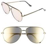 Quay Women's X Desi Perkins High Key 60Mm Aviator Sunglasses - Green/ Gold