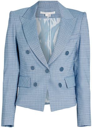 Veronica Beard Diego Plaid Dickey Blazer