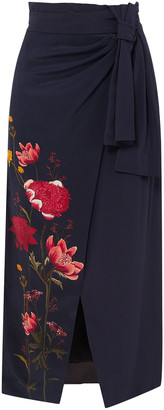Mother of Pearl + Net Sustain And Bbc Earth Annabelle Wrap-effect Floral-print Organic Silk Skirt