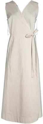 Lafayette 148 New York Siri Striped Wrap Dress
