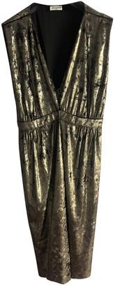 Masscob Gold Velvet Dresses