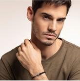 Thomas Sabo Thomas Sabo Sterling Silver Disc Leather Adjustable Mens Bracelet