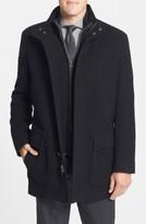 Cole Haan Men's Wool Blend Top Coat With Inset Bib