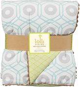 Living Textiles Zig Zag Zoo Cot Comforter, Aqua Chain
