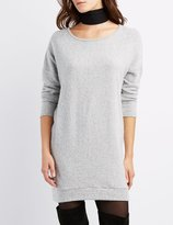 Charlotte Russe Brushed Marled Sweater Dress
