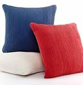 Martha Stewart (1134 Pleated Wave Red Independence Americana Pillow
