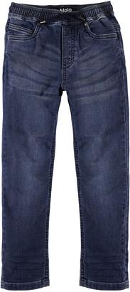 Molo Boy's Augustino Soft Denim Drawstring Pants, Size 4-12