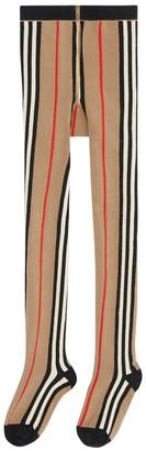 Burberry Icon Stripes Stretch Cotton Tights