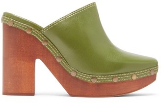 Jacquemus Sabots Leather Clog Mules - Womens - Green