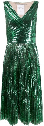 Marco De Vincenzo Sequin Cocktail Dress