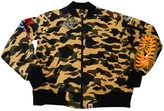 A Bathing Ape Yellow Cotton Leather Jacket for Women