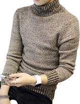 Yiwa Men's Pullover Turtleneck Knitwear Sweater for Autumn Winter L