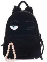 Chiara Ferragni Candies Flirting Black Velvet Backpack