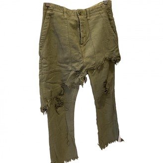 R 13 Green Cotton Jeans for Women