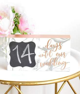 francesca's Count Down Box Sign - Rose/Gold