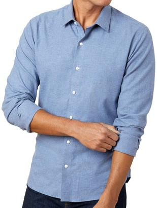 The Tie BarThe Tie Bar Blue Solid Flannel Shirt