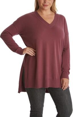 Step Hem Tunic Sweater