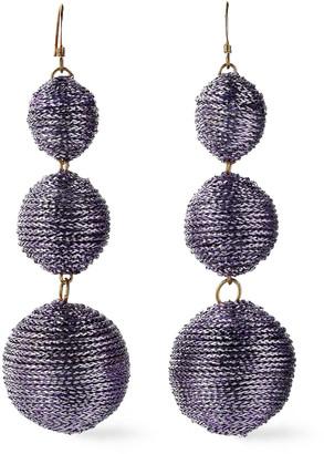 Kenneth Jay Lane Gold-tone Cord Earrings