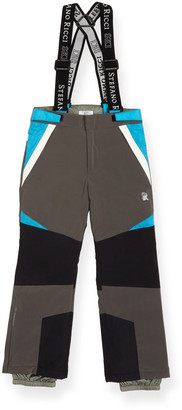 Stefano Ricci Boys' Colorblock Ski Pants with Suspenders, Size 10-14