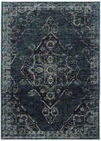 "Blue Area Oriental Weavers Andorra Medallion Blue and Rug, 2'3""x8'"