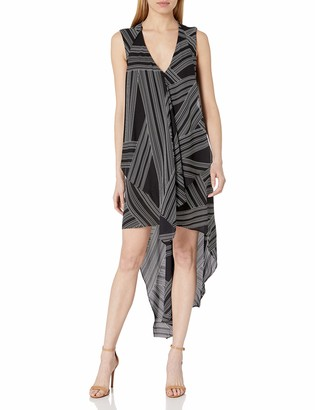 BCBGMAXAZRIA Women's Cascade Ruffle Dress