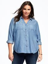 Old Navy Relaxed Plus-Size Tencel® Shirt