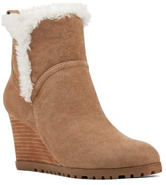 Nine West Cici Faux Shearling Trim Wedge Boot
