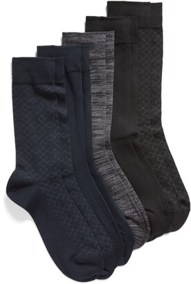 Nordstrom Ultrasoft Assorted 5-Pack Dress Socks