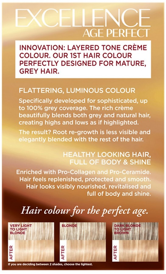 L'Oreal Age Perfect Hair Dye (Various Shades) - 9.31 Light Beige Blonde