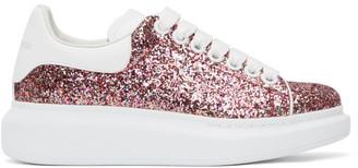 Alexander McQueen SSENSE Exclusive Pink Galaxy Glitter Oversized Sneakers