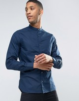 French Connection End On End Grandad Collar Slim Fit Shirt