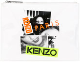 Kenzo printed clutch - women - Cotton/Calf Leather/Nylon - One Size