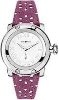 Glam Rock Women's summerTime 40mm Purple Leather Band Steel Case Swiss Quartz White Dial Watch GR40420