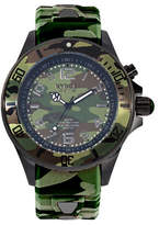 Kyboe! Analog Camo Stainless Steel Silicone Strap Watch