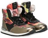 John Galliano printed hi-top sneakers