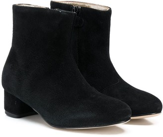 Gallucci Kids block heel ankle boots
