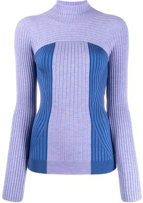 Thierry Mugler ribbed knit turtleneck sweater
