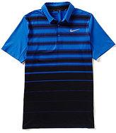 Nike Short-Sleeve Mobility Fade Horizontal-Stripe Polo Shirt